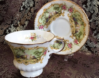 Vintage Paragon Chippendale Bone China Tea Cup and Saucer England