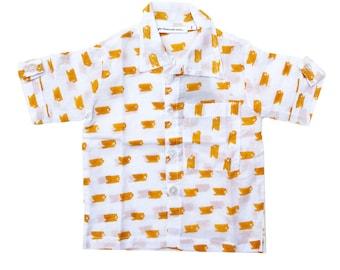 Cotton shirt, Handmade, Unisex kids, Trendy baby summer fashion, Summer shirt, Short sleeve shirt, cotton top, 100% cotton lightweight shirt
