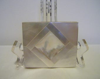 Vintage Marhill Mother of Pearl Square Compact