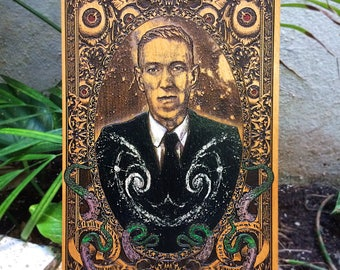 Lovecraft Art, Cthulhu Art, Kraken Poster, Wood Engraving, Artist Collaboration Art