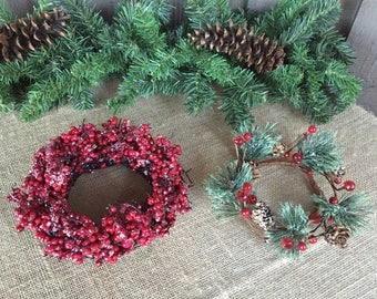 Candle holders/ Christmas candle holders/ winter candle holders/ pillar candle holders/ Christmas decor/Xmas candle holders/holders 4 candle