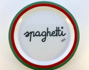 Vintage Baldelli Spaghetti Dinner Plate (6 available)