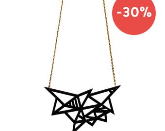 Graphic necklace in plexiglas® - Konstellation