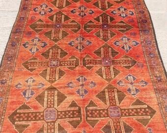 SUMMER SALE 25% OFF Size:9 ft by 4.9 ft Handmade Rug Vintage Afghan Tribal Long Area Carpet