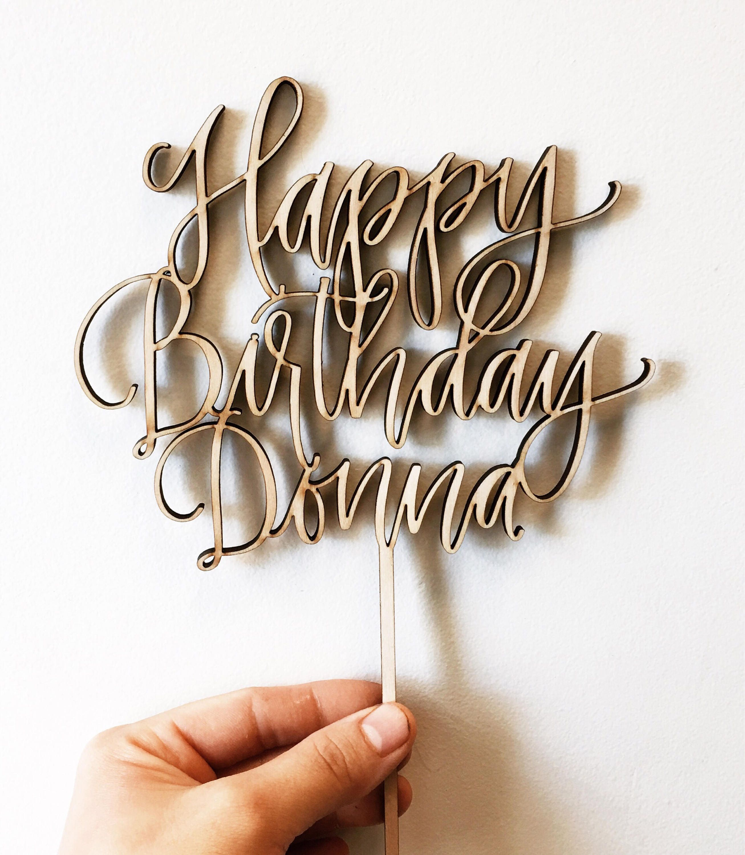 Custom Cake Topper By Hawaii Calligraphy Calligraphy Topper