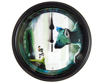 The Last Guardian - 3D Wall Clock - Video Game Decor - Video Game Wall Art -  Gamer Gift - Geek Gift - Video Game Clock - Trico