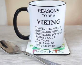 Reasons to be a viking mug personalised viking mug viking gift vikings coffee mug viking coffee mug norse mythology viking cup Thor Norse