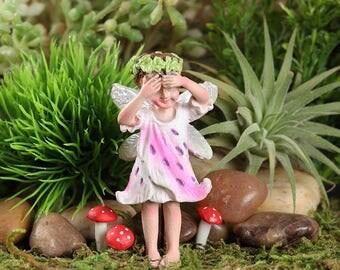 Fairy Garden  - Tiger Lily Fairy - Blanca - Miniature