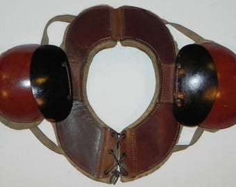 Circa 1920's A.J. Reach Brand Model 100 Leather Football Shoulder Pads
