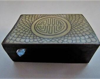 Vintage Cloisonne Match Box Holder/Cover