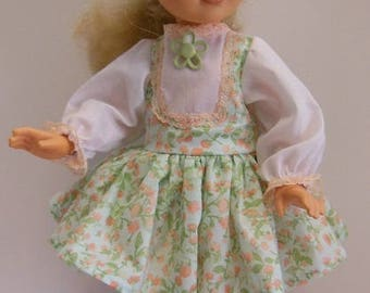 """Green Jumper Style Dress Set for Tomy 17"""" Kimberly Dolls"""