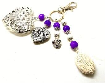 To perfume!!! Jewel of silvery bag, bracelet charms heart