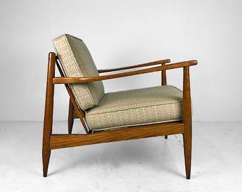 DUX Restored Danish Mid Century Walnut Frame Side Chair   SOLD