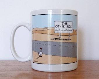 Gary Larson - The Far Side 'Chicken Crossing Road' Mug