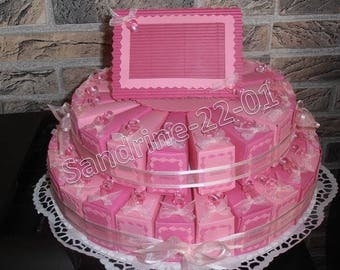 "44 cake boxes ""nipples"" pink and fuschia"