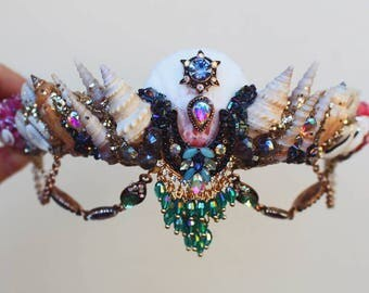Bright festival beaded crown