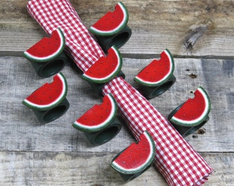Summer Watermelon Napkin Rings- Set of 8