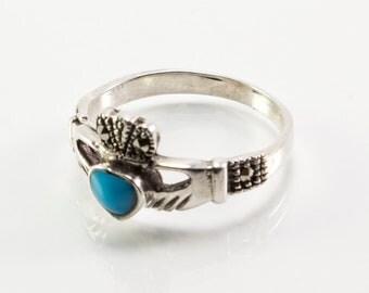 Stone Claddagh Ring