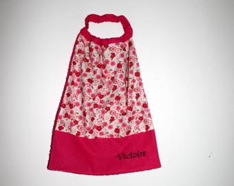 Canteen, home, birthday * bib, napkin, canteen, with elastic at the neck, pretty flowers - custom