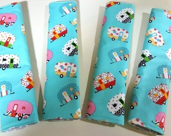 Seat Belt Cushions-Glamping-Vintage Camper-Camping-Glamper-Travel-RV-Car Accessories-Seat Belt-Airstream-Camper Accessories
