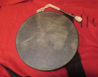 """NEW Thunderous Powerfull 19"""" Native American Traditional Style Buffalo Skin """"Shaman"""" Drum (Comes with Drum Beater Stick)"""