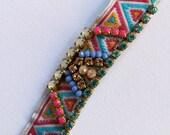 Crystal Choker Necklace Pink Statement Necklace Swarovski Choker Festival Jewelry Festival Choker Summer Necklace Boho Hippie Chic Choker