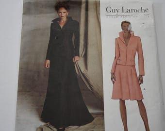 GUY Laroche, Vogue Paris Originals, UNCUT Vogue 2607, Misses' Jacket and Skirt, flared skirt, semi fitted jacket