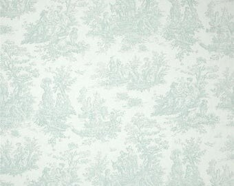 summer sale toile shower curtain snowy blue white 72 x 84 72 x 96 72 x