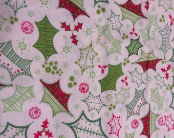 Heidi Grace Designs  Christmas Holly Leaves   1 Yard Available   Free Shipping