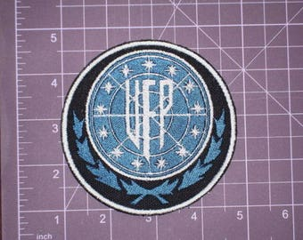 Star Trek TOS United Federation of Planets Embroidered Patch, New for jacket, hat, vest