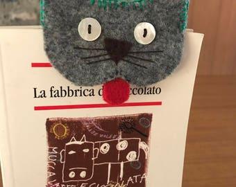 Gatto segnalibro  in feltro