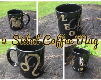 Custom gift,Coffee mug,unique coffee mug,zodiac,custom mug,Leo zodiac,Zodiac mug,personalized mug,coffee cup,zodiac gift,leo sign,horoscope,