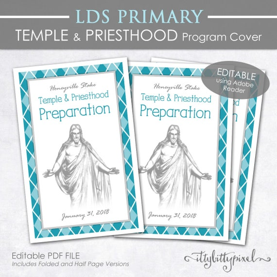 Temple and Priesthood Preparation Program Cover LDS Primary