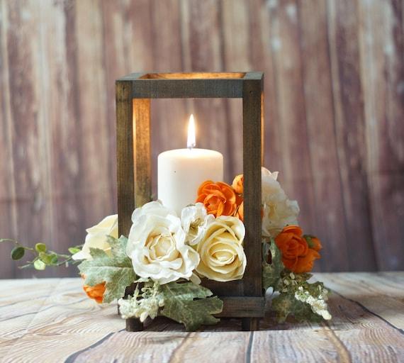 Rustic Wood Candle Lantern Wedding Lantern Rustic Lantern