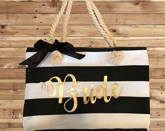 Tote Bag, Monogrammed bag, Monogrammed Tote,Purse,  Personalized, Custom, Bridesmaid Gift, Beach Bag, Beach Tote, Wedding Gift