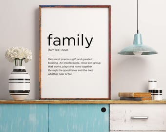 Family quote etsy for Family room definition