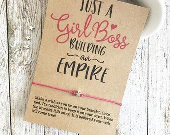 Just A Girl Boss Building Her Empire, Feminist Jewelry, Empowering Jewelry, Women Empowering Women, Girl Boss Gift, Wish Bracelet