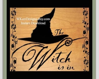 The Witch Is In Art Print, INSTANT Digital Download