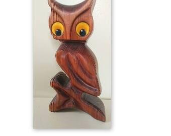 Vintage Wooden Owl // Wall Hanging // Shelf // Vintage Boho Decor