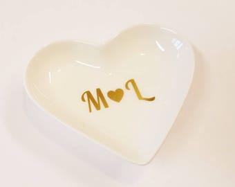 Ring Dish Personalized- Ring Dish Initials- Ring Dish Wedding- Ring Dish Engagement- Personalized Ring Dish Wedding- Engagement Ring Dish