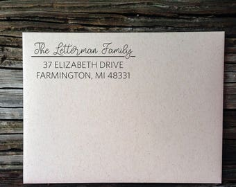 Address Stickers, Personalized, Wedding Invitation Labels, Family Calligraphy Address Labels, Custom Return Address Labels