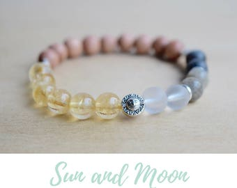 Moon Phases Bracelet / wiccan moon witch,positive vibes,crescent moon,meditation bracelet,wiccan moon goddess,pagan bracelet,good vibes only