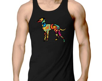 Psychedelic Italian Greyhound Tank Top