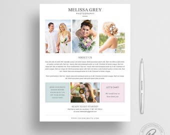 About Me Page Template for Photoshop | Photography Marketing Template | Photoshop Template | Photographer About Me Page