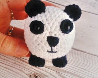Crochet Panda - Amigurumi Panda - Vegan Panda Gift - Small Panda - Cute Panda - Soft Panda  - Knitted Panda - Panda Bear - Panda Lover Gift