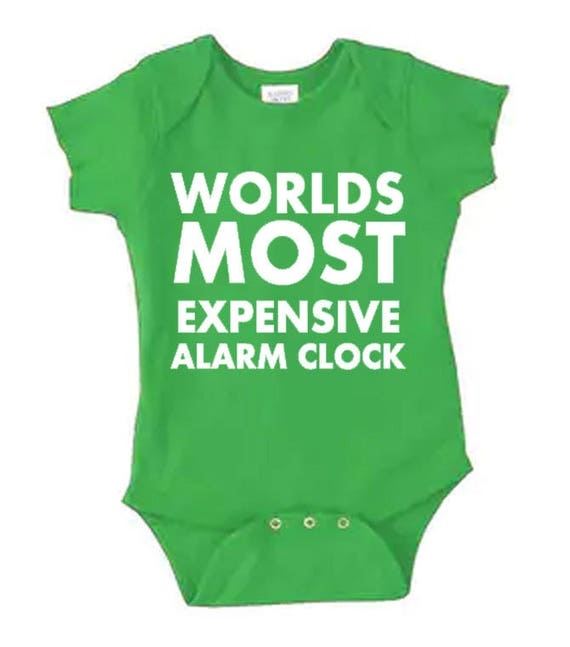 Worlds Most Expensive Alarm Clock Funny Infant Clothes