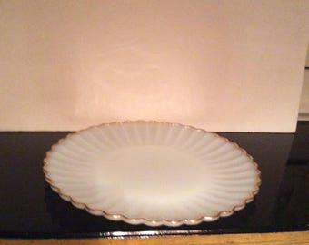 Large Milk Glass Serving Tray