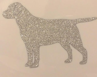 """Labrador Dog Sticker Decal (Sparkle Glitter Vinyl) 3""""x3"""""""
