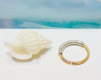 Gold Conch Ring - Conch Ring 16-22Gauge 13-16mm Inner Diameter - Conch Piercing Jewelry- Conch Pierced Earring- Handcrafted