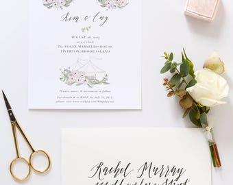Illustrated Wedding Invitation | Custom Hand Drawn Invitation for Weddings & Special Events